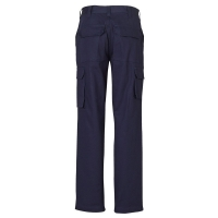 Ladies Heavy Drill Cargo Trousers Navy Size 10 (each)
