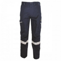 Ripstop Cargo Trousers with CSR Reflective Tape Regular Fit Navy 107R (each)
