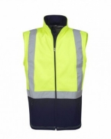 Hi Vis Day Night Soft Shell Vest Yellow Large (each)